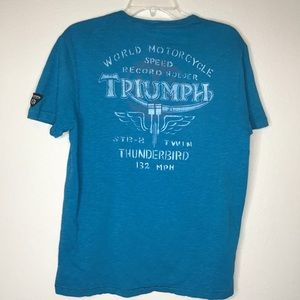 Lucky Brand Triumph Motorcycle T-shirt Med